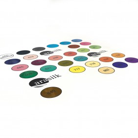 Outlined Dupont Colour Chart - Ponge 9 silk