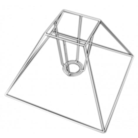 CARCASSE, ABAT-JOUR. Pyramide 30cm. E27 blanc epoxy