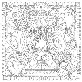Dessins foulard - 90 x 90 cm