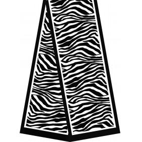 Echarpes en satin dévoré - Blanches à teindre - 180 x 32 cm