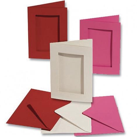 Passe-partout 180x110 mm - Paquet de 3 avec enveloppes