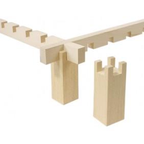 4 blocs en bois pour cadre à encoche