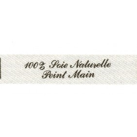 Sew-on label - 100% Soie Naturelle Peint Main