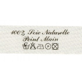 Sew-on label - 100% Soie Naturelle Peint Main + Washing symbols