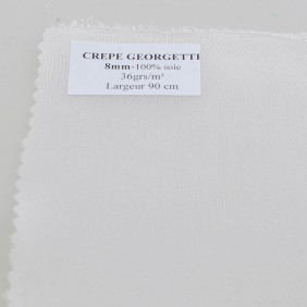 Crepe Georgette Pure Silk - By The Meter