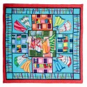 Outlined Square Scarf - Ponge 9 silk