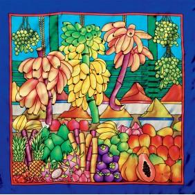 Carré de soie - Pongé 9 - 90 x 90 cm
