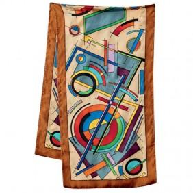 Écharpe de soie courte Pongé 9 - 145 x 45 cm
