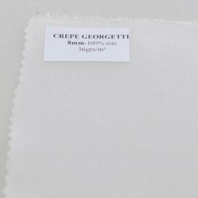 Crêpe Georgette 8 - Echarpe préroulottée 180 x 45 cm